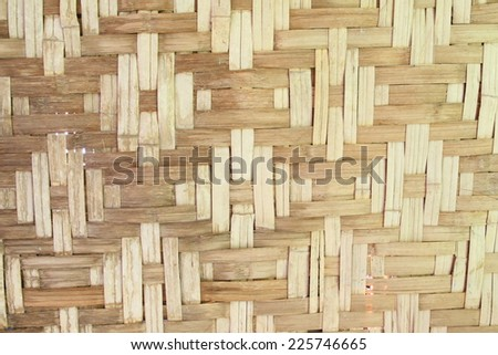 Bamboo is patterned background which must be in the making.