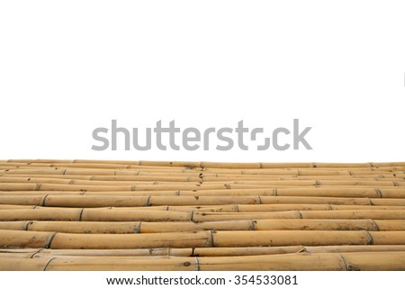 Bamboo isolated - stock photo