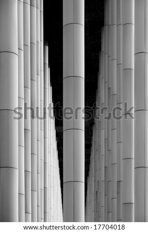 Bamboo like structure detail - stock photo