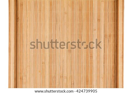 Bamboo mat twisted in the form of a manuscript, Isolated on white background - stock photo