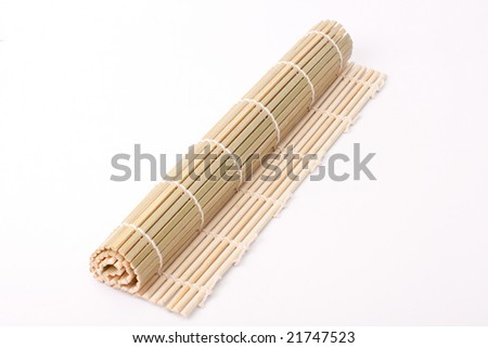 Bamboo norri for sushi isolated on white
