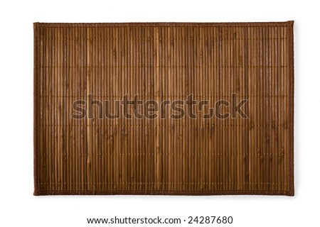 Bamboo place mat for sushi - stock photo