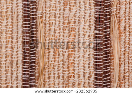 Bamboo placemat texture for background, close-up image. - stock photo