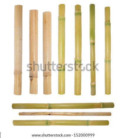 bamboo rattan isolated on white background  (with clipping path) - stock photo