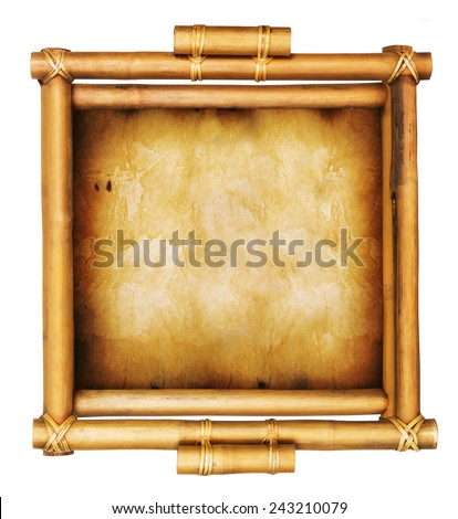 Bamboo sign isolated on a white background - stock photo