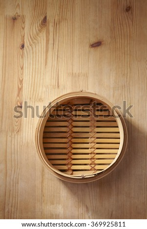 bamboo steamer - stock photo
