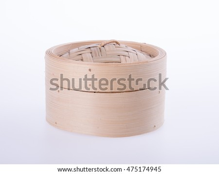 Bamboo steamer or dim sum steamer on background