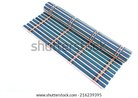 Bamboo straw mat as abstract texture background