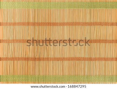 bamboo straw wood background vintage natural decor - stock photo