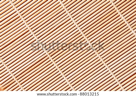 bamboo tablecloth - can be used as a texture background - stock photo