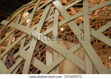 Bamboo  truss  structure  - stock photo