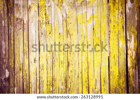 bamboo wall in countryside at Thailand - stock photo