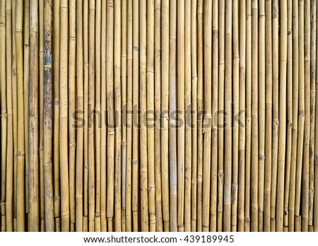 bamboo wall texture background - stock photo