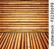 Bamboo walls - stock photo