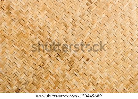 Bamboo weave pattern. - stock photo