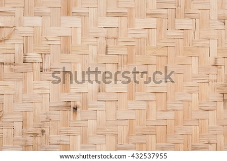 bamboo weave pattern,Bamboo wood texture for background - stock photo