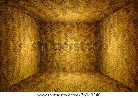 Bamboo weave room - stock photo