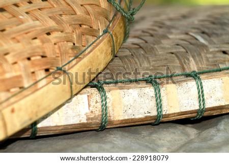 Bamboo weave texture - stock photo
