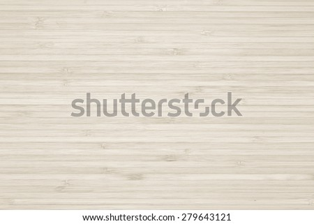 Bamboo wood texture background in antique light cream color tone