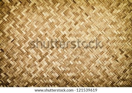 Bamboo wood texture ,Thai handwork - stock photo