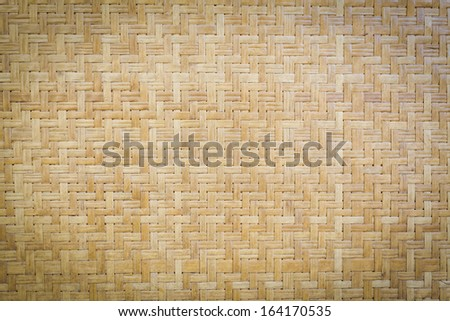 Bamboo wooden weave texture background - stock photo