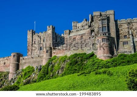 Bamburgh Castle, Northumberland, England, UK - stock photo