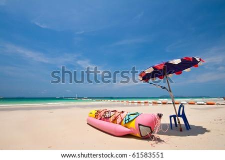 Banana boat, Koh Lan, Pattaya, Thailand - stock photo