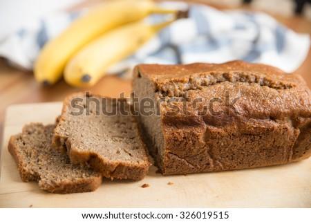 Banana Bread Loaf - stock photo