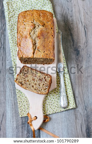Banana breakfast loaf - stock photo