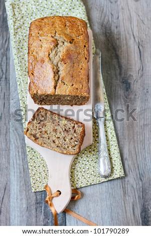 Banana breakfast loaf - stock photo