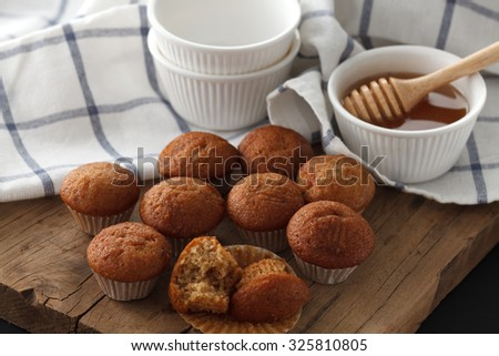banana cake honey sweet pastries dessert eating yummy bakery rustic still life closeup delicious rustic background - stock photo