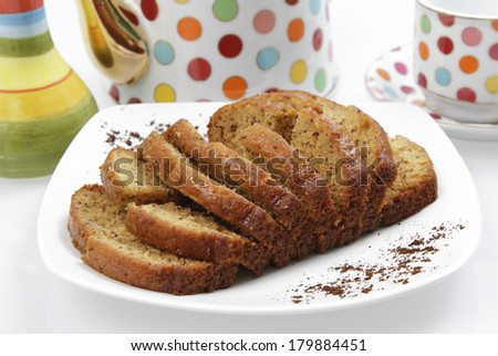Banana Cake Loaf - stock photo