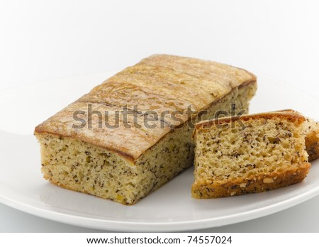 Banana cake ready to serving you