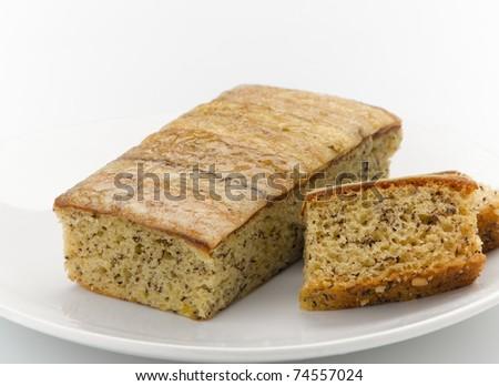 Banana cake ready to serving you - stock photo