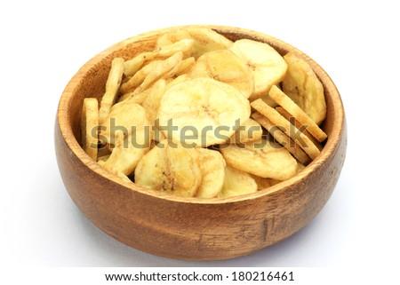 banana chips - stock photo