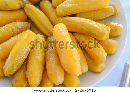 banana in syrup - stock photo