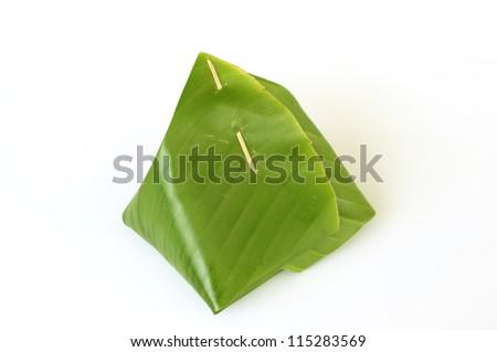 thai dessert packing banana leaf stock photo 143364151. Black Bedroom Furniture Sets. Home Design Ideas