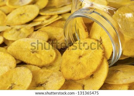 Banana Plantain Chips; Non sharpened file - stock photo