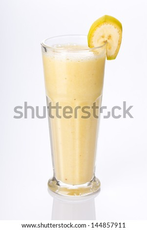 banana shake - stock photo