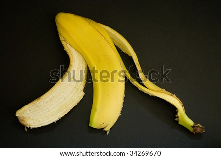 banana skin - stock photo