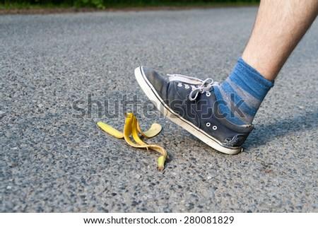 banana slip - stock photo