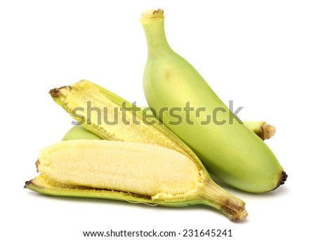 Bananas, Cultivated Banana, Thai cultivated banana, Thai bananas on on white background. - stock photo