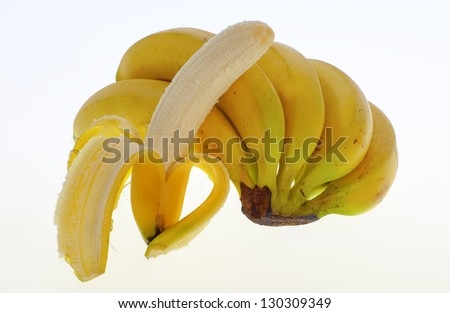 bananas from the Canary Islands, Spain - stock photo