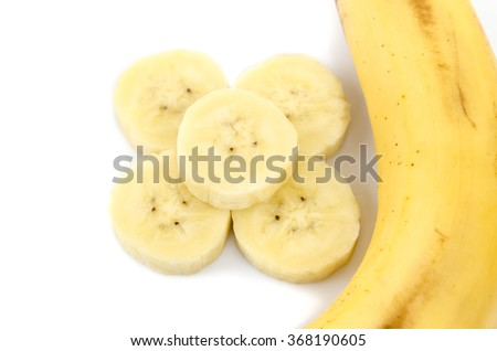 bananas isolated on the white background.