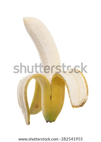 bananas isolated on white background - stock photo