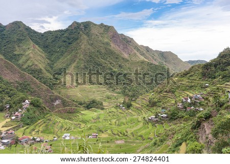 Banaue rice terraces, more precisely in Batad in the Philippines are one of the most stunning landscape around Asia - stock photo