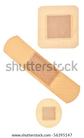 Band Aid Background Image Isolated on White with a Clipping Path. - stock photo
