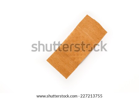 Band aid isolated on a white background. Wound, cure, care, relief. - stock photo