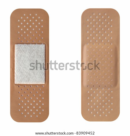 Band aid isolated over a white background - stock photo