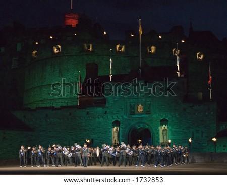 Band of the Brigade of Gurkhas - stock photo